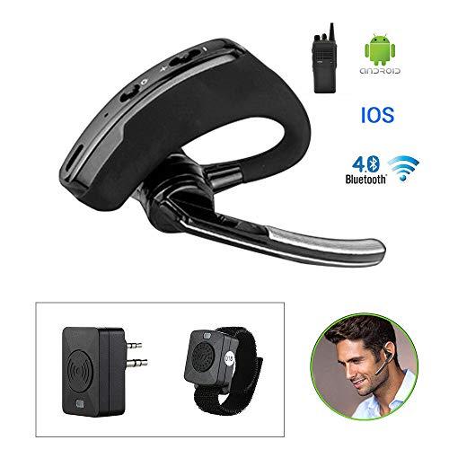 FidgetKute Walkie Talkie Blue-Tooth Earphone Headset Wireless for Motorola Two Ways Radio Show One Size
