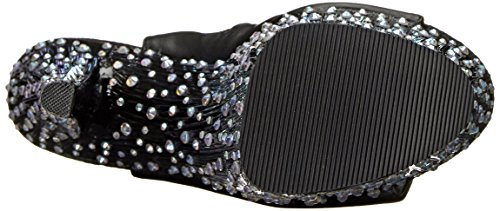 Pleaser Stardance 1018 7 - Tacones Mujer Black (Blk Faux Leather/Blk Slv Multi Rs)