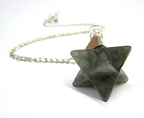 - CRYSTALMIRACLE EXCLUSIVE LABRADORITE STAR MERKABA DOWSER PENDULUM CRYSTAL HEALING REIKI FENG SHUI MEN WOMEN GIFT PEACE MEDITATION METAPHYSICAL GEMSTONE SUCCESS SPIRITUAL HEALTH WEALTH ENERGY POWER