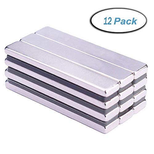(Neodymium Bar Magnets(12 Pieces), Strong Rare Earth Rectangular Block Neodymium Magnets, DIY, Building, Scientific, Craft and Office Magnets- 60 x 10 x 3 mm)