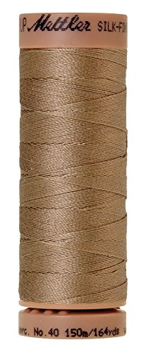 Mettler Silk-Finish 40 Weight Solid Cotton Thread, 164 yd/150m, Caramel Cream (Finish Medium Caramel)