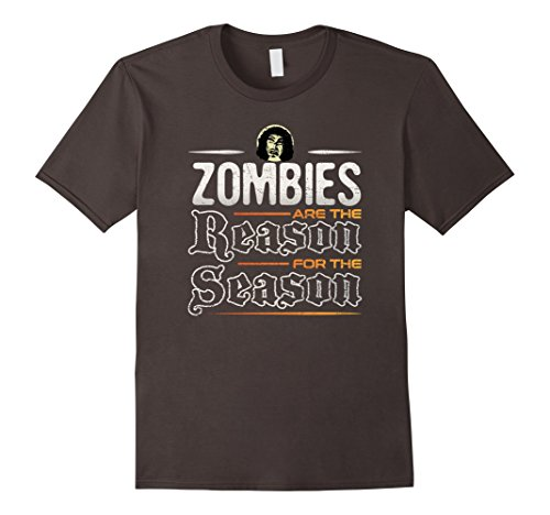 Mens Zombies are the Reason for the Season T-Shirt Large (Doctor Who Themed Halloween Costumes)