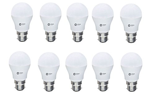 Orient Electric ES_7W_CDL10 Round Base B22 7 Watt LED Bulb  Pack of 10, White