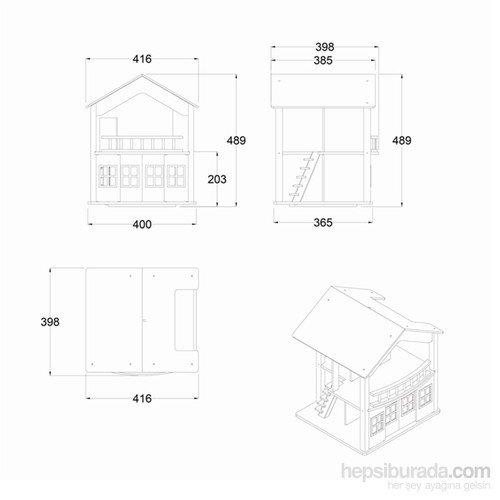 Serra Baby Educational Wooden Baby Bath House - 360 degree swivel