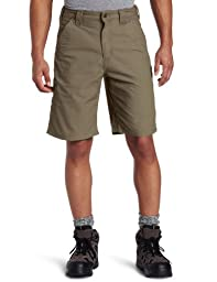 Carhartt Men\'s Canvas Work Short B147,Light Brown,36
