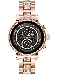 Access Women's Sofie Heart Rate' Touch-Screen Smartwatch with Stainless-Steel Strap, Rose Gold, 18 (Model: MKT5066)