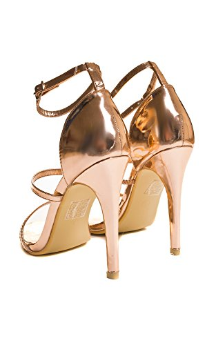 Gold De Fiesta Alto Womens Rose Zapatos Ikrush Tacón Honor qB684C