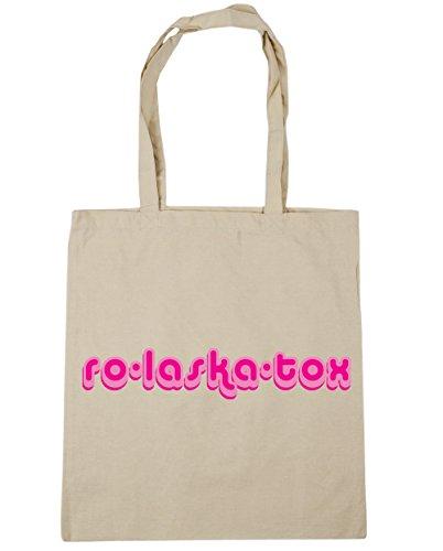 HippoWarehouse ro-laska-tox Tote Compras Bolsa de playa 42cm x38cm, 10litros Natural