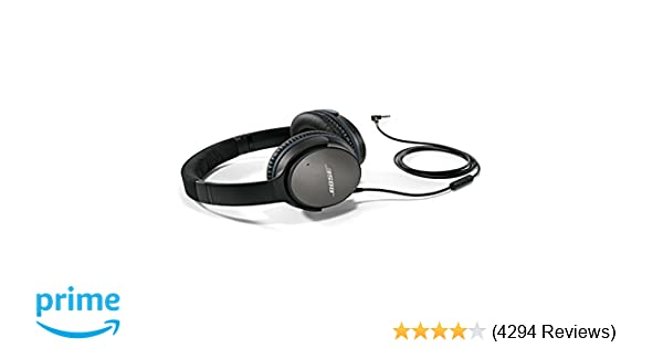 f2907aa601a Amazon.com: Bose QuietComfort 25 Acoustic Noise Cancelling Headphones for  Apple devices - Black (wired, 3.5mm): Bose: Home Audio & Theater