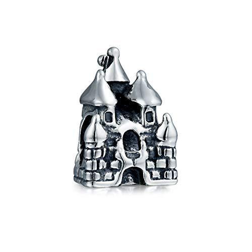 Fairytale Princess Castle Charm Bead For Women For Teen 925 Sterling Silver Fits European Charm Bracelet