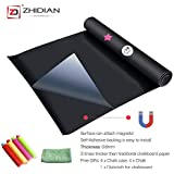ZHIDIAN Chalkboard Wall Sticker Roll, Magnetic Chalkboard Contact Paper Can Attach Magnets, Self Adhesive Black Board Decal Peel Stick Wallpaper for Home/School/Office 48 x 36, Thickness-0.6mm