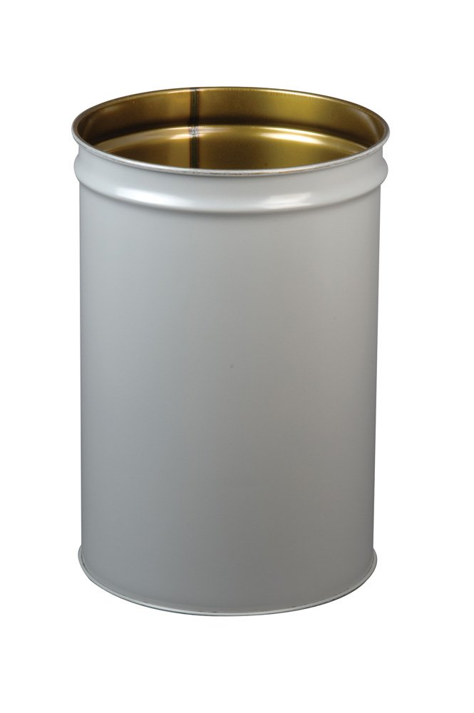 Justrite 26054 Cease-Fire Steel Drum, 55 Gallon Capacity, 23-3/4'' OD x 34-1/2'' Height, Gray