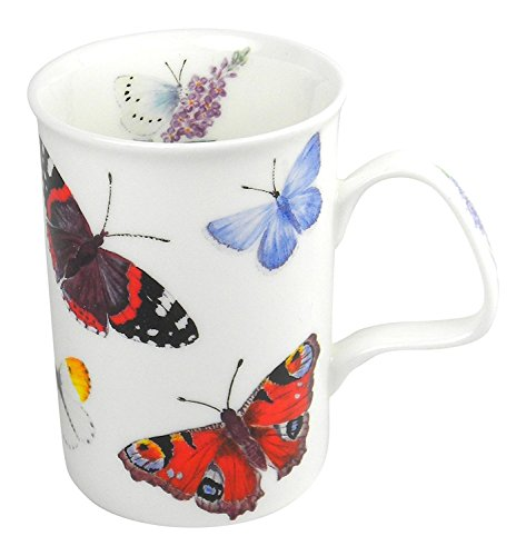 Roy Kirkham Fine Bone China Butterfly Garden Coffee or Tea Mug #1 ()