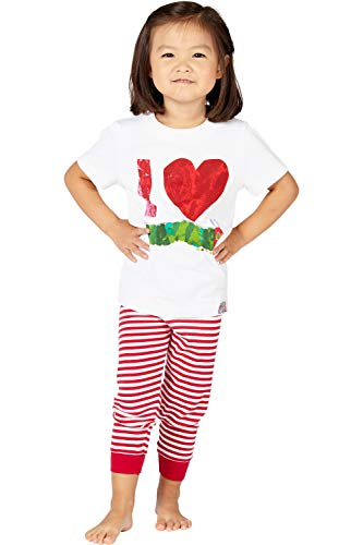 Eric Carle Kids The Very The Very Hungry Caterpillar Love Cotton Toddler Tee Shirt, White, 5T
