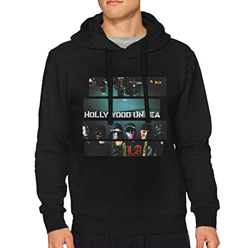 (Mens Hollywood Undead Music Band Long Sleeve Casual Hooded Fashion Pullover)