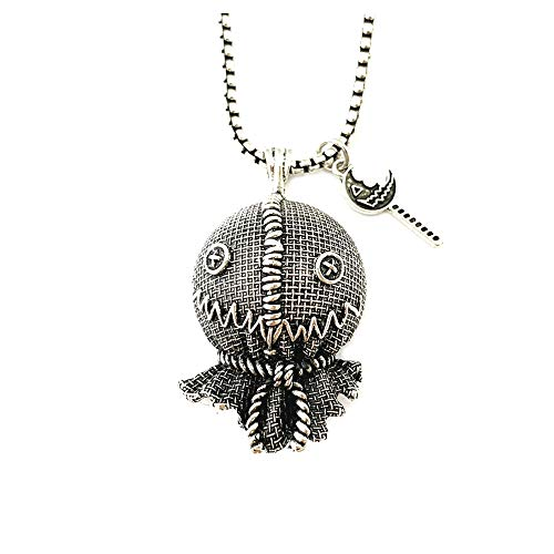 Athena Brands Trick 'r Treat Sam Scarecrow Fashion Novelty Pendant Necklace Movie Horror Series with Gift Box