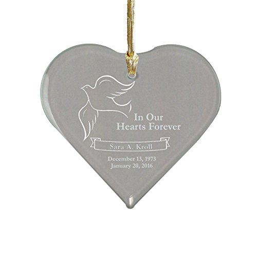 Suncatcher Personalized - GiftsForYouNow Engraved Memorial Heart Suncatcher, 4