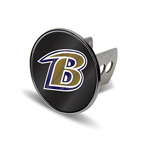 NFL Baltimore Ravens Laser Cut Metal Hitch Cover, Large, Silver