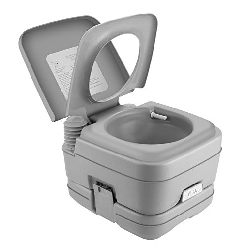 Portable Potty Toilet -Travel Camping Outdoor/Indoor Car Boat Toilet Potty Flush (2.8 Gallon - Gallon Tank Holding 2.8