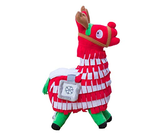 (WEPOP Christmas Loot Llama Plush Stuffed Toy Doll Figure, Troll Stash Animal Alpaca Gift for Kids Girls Boys Children)