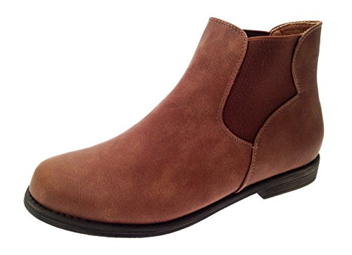 Lora Low Boots Ankle Chelsea Ladies Size Faux 3 Flat Girls UK Dora Leather Womens Heel Shoes Gusset Tan 8 Suede gnYFwrgx1q