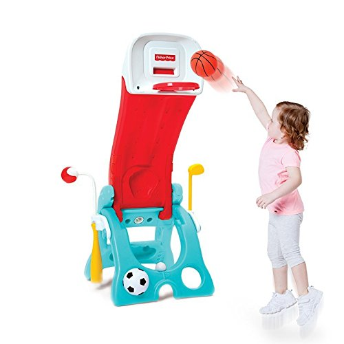 Most Popular Kids Toddlers Learning Sports Activity Play Center Toy- Unisex Children's Fun With 6 In 1 Multiple Sports Games- Baseball Basketball Golf Football MORE- Indoor Outdoor Weather Resistant