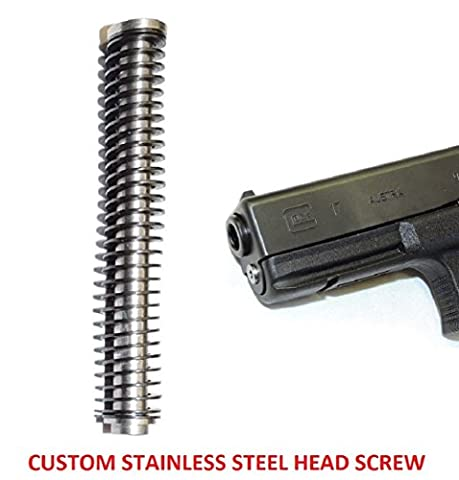 CENTENNIAL DEFENSE SYSTEMS STAINLESS STEEL GUIDE ROD ASSEMBLY WITH 18 LB ISMI SPRING FOR GLOCK G19, 23, 32, 38 GEN 1-3 AND CUSTOM MACHINED STAINLESS STEEL HEAD SCREW.
