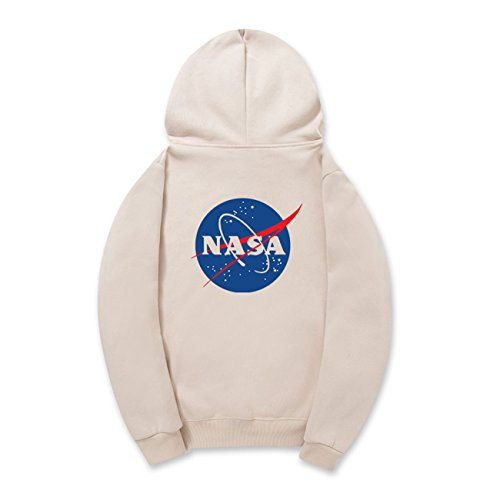 CORIRESHA Street Style Fashion Front and Back NASA Logo Drawstring Hoodie Sweatshirt from CORIRESHA
