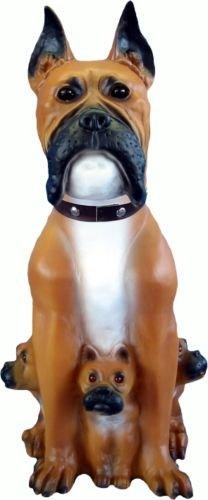 BOXER 60 cm con diseño de perro enano de jardín de peluche de jardín de PVC
