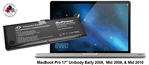 NewerTech NuPower 103Wh Battery for MacBook Pro 17'' Early-Late 2009 & Mid 2010 by NewerTech