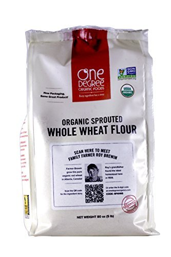 (One Degree Organic Foods Sprouted Whole Wheat Flour, 80 Ounce)