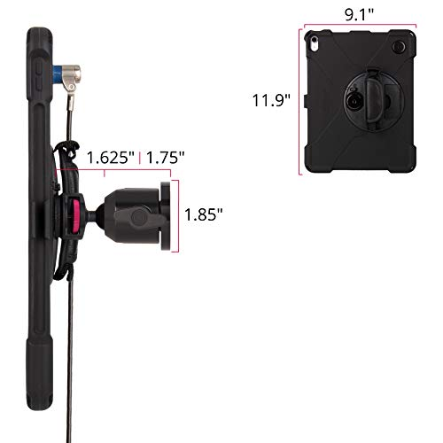 The Joy Factory MagConnect On-Wall Mount with aXtion Bold MPS Water-Resistant Rugged Security Cable Lock Case for iPad Pro 12.9'' [3rd Gen] Built-In Screen Protector, Hand Strap, Kickstand (MWA4115MPS) by The Joy Factory (Image #3)