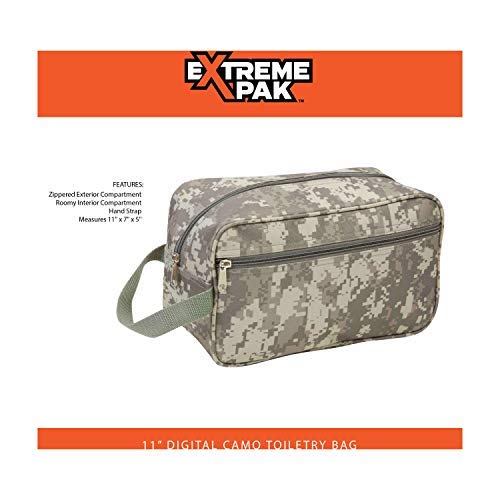 Maxam Extreme Pak Water-Resistant Travel Bag, Perfect for Overnight Stays Anywhere, Digital Camo, 11-inch by Maxam (Image #1)