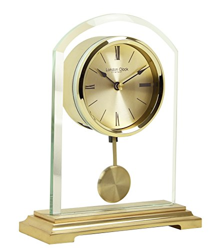 - London Clock Co 20 cm Gold Arch Pendulum Mantel Clock
