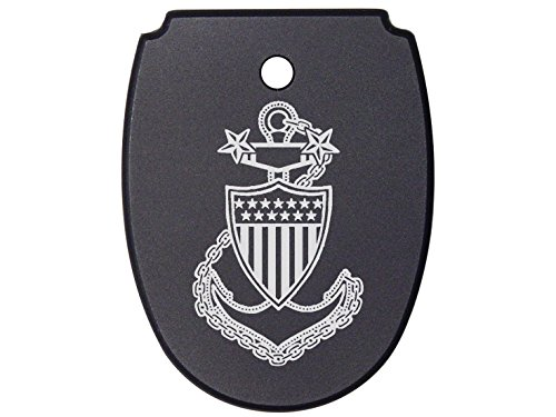 NDZ Performance For SIG SAUER P320 P250 Mag Plate Black 9mm .40 .357 Models USCG Master Chief Petty Officer Logo