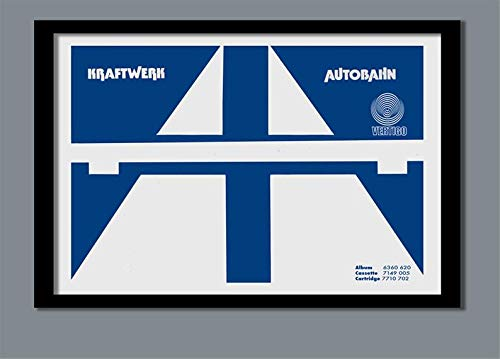 North Shine Kraftwerk Poster Autobahn Promo Music Band Poster Poster Home Art Wall Posters [No Framed] (Autobahn Apparel)