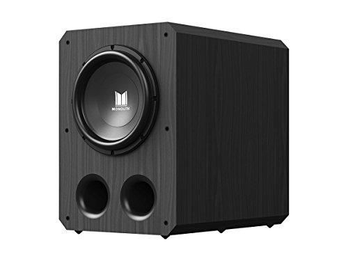 Monolith 12 Inch Powered Subwoofer - Black | THX Select Certified, 500 Watt Amplifier, 12 Inch Driver for Studio & Home ()