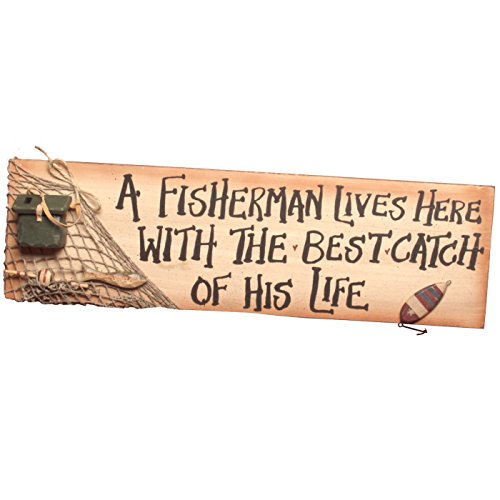 Ohio Wholesale A Fisherman Lives Here Sign ()