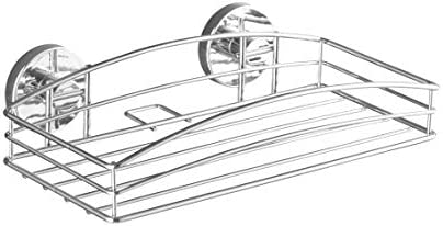 Plateado Acero 15x52x9 cm Wenko Vacuum-Loc Milazzo Maxicesta
