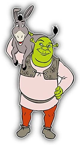 valstick Shrek Donkey Friends Cartoon Car Bumper Sticker Decal