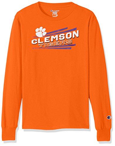 Nice Youth T-shirt (NCAA Clemson Tigers Youth Boys Long sleeve Jersey Tee, Medium, Orange)