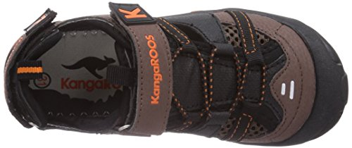 KangaROOS KangaSpeed 2068, Jungen Sneakers Braun (dk brown/orange 370)