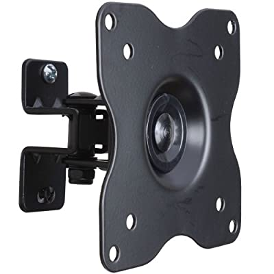 VideoSecu ML411B Adjustable Tilt Swivel Rotation TV Wall Mount Bracket for LCD LED TV and Monitor Black 1FF