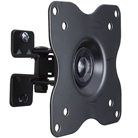 VideoSecu ML411B Adjustable Tilt Swivel Rotation TV Wall Mount Bracket for LCD LED TV and Monitor (Max 44 lbs, VESA 100/75) Black (Videosecu Av Video)