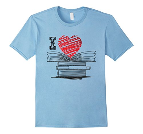 Mens I Love Books T Shirt For Readers, Writers, Librarians Medium Baby - Clothing Librarian