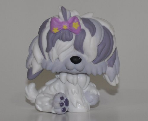 Sheepdog #465 (Eyes Covered) - Littlest Pet Shop (Retired) Collector Toy - LPS Collectible Replacement Single Figure - Loose (OOP Out of Package & Print) ()