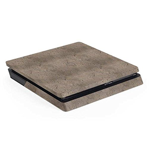(Skinit Concrete PS4 Slim (Console Only) Skin - Sandstone Concrete Design - Ultra Thin, Lightweight Vinyl Decal Protection)