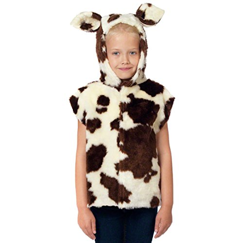 Cow Costume for kids. One Size 3-9 Years. (Halloween Costumes Uk Kids)