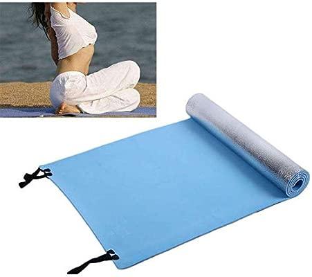 Beito Camping Espuma Esterilla de Ejercicio Yoga Mat Extra Grueso Dormir Picnic Eva Outdoor Colchón Playa Shop Pad Verde 70