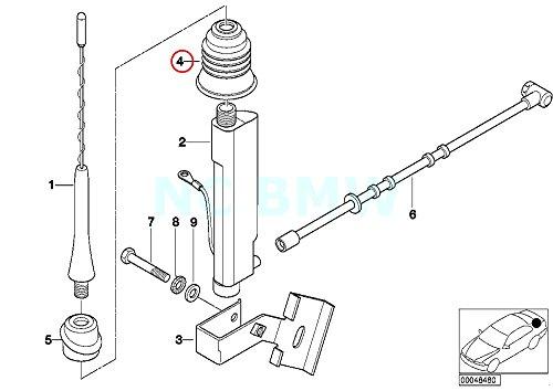 BMW Genuine Interior Short Rod Aerial Grommet